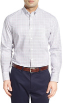 Nordstrom Classic Fit Smartcare(TM) Windowpane Sport Shirt (Big)