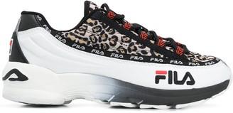 Fila Leopard Print Low Top Sneakers