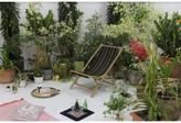 Atalya Folding Bamboo Relax Sling Beach Chair Bayou Breeze
