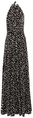 Raquel Diniz Giovanna Speckle-print Velvet Dress - Womens - White Black