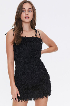 Forever 21 Feathered Cami Mini Dress