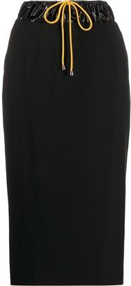 Aalto drawstring waist pencil skirt