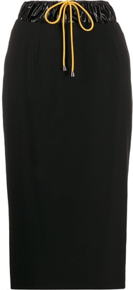 Aalto Drawstring Waist Pencil Skirt