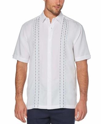 Cubavera Geometric Panel Embroidered Shirt