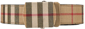 Burberry Vintage Check E-Canvas Belt in Archive Beige | FWRD