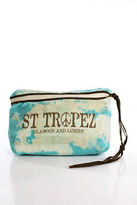 St. Tropez Multi Color Canvas Cosmetic Case Handbag