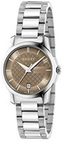 Gucci Women's 'G-Timelss' Quartz Stainless Steel Automatic Watch, Color:Silver-Toned (Model: YA126526)
