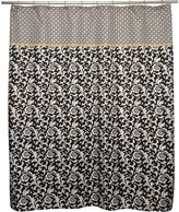 Waverly angelique nightfall fabric shower curtain