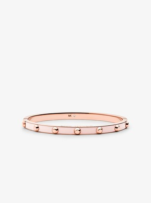 Michael Kors Studded Rose Gold-Plated and Acetate Bangle