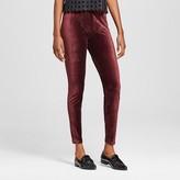 Xhilaration Women's Leggings Corduroy Garnet Rose