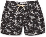 Saturdays NYC Colin Mid-length Printed Swim Shorts - Black