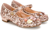 Dolce & Gabbana sequined ballerina flats - kids - Leather/Polyester/rubber - 27