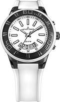 Jacques Lemans Miami Gents White Silicone Strap Watch 1-1786J