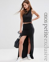 Asos Stepped Hem Maxi Skirt