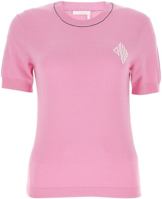 Chloé Monogram Logo Knitted Top