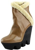 Viktor & Rolf S45wu0005 Round Toe Leather Mid Calf Boot.