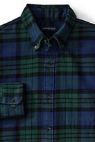 Classic Men's Big and Tall Traditional Fit Long Sleeve Pattern Flagship Flannel Shirt-Persian Cobalt Plaid