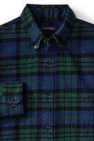 Classic Men's Slim Fit Long Sleeve Pattern Flannel Shirt-Persian Cobalt Plaid