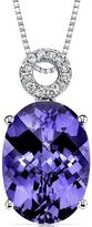 Ice 8 CT TW Alexandrite and Diamond 14K Polished White Gold Pendant Necklace