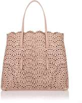 Alaia Light beige leather laser-cut bag
