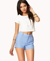 FOREVER 21 Essential Linen-Blend Pocket Shorts