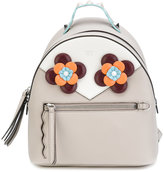 Fendi mini backpack with flowers - women - Calf Leather/glass/metal - One Size