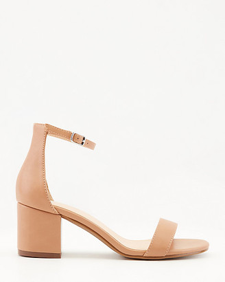 Le Château Faux Leather Round Toe Ankle Strap Sandal