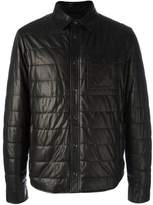 Tod's Men's Black Leather Outerwear Jacket.