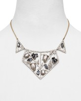 """Alexis Bittar Crystal Encrusted Mosaic Lace Collar Necklace, 13"""""""