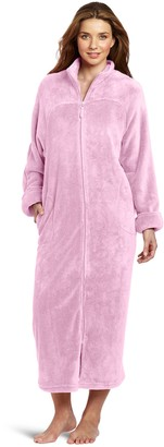 Casual Moments Women's 52 Inch Zip Front Robe