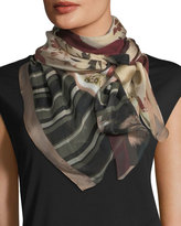 Vince Camuto Square-Print Silk Scarf