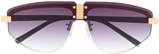 Linda Farrow x Matthew Williamson oversized sunglasses