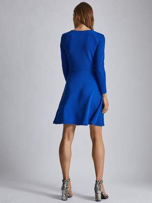 Dorothy Perkins Petite Keyhole Mini Dress - Blue