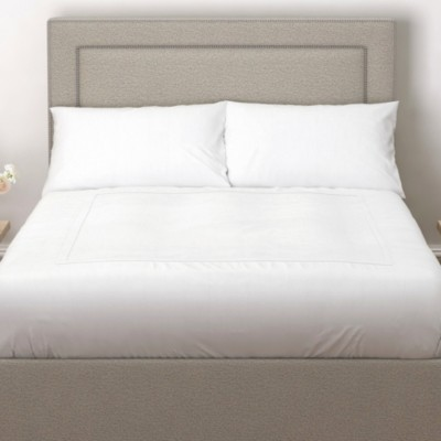 The White Company Cavendish Headboard Wool - 2 Colours, Light Grey Wool, Emperor