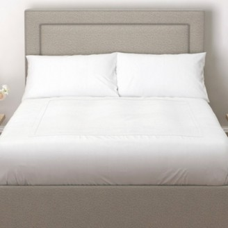 The White Company Cavendish Headboard Wool - 2 Colours, Light Grey Wool, Double