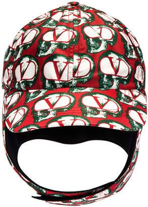 Valentino Aviator Hat in Red & Ivory & Black | FWRD