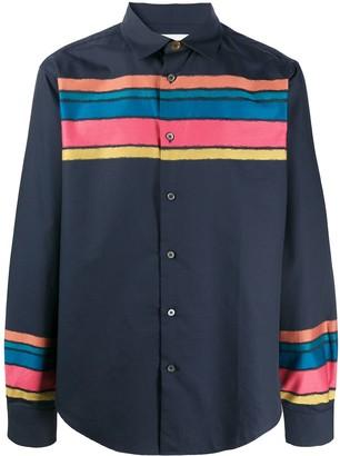 Paul Smith Colour Block Striped Shirt