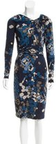 David Meister Abstract Print Knee-Length Dress