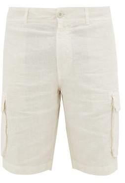 120% Lino Slubbed-linen Cargo Shorts - Mens - Cream