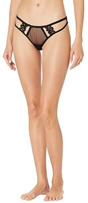 Bluebella Milana Thong (Black) Women's Underwear