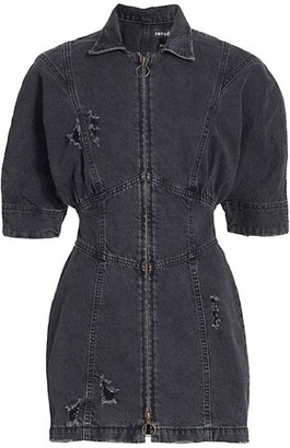 retrofete Miley Zip Denim Dress