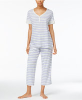 Charter Club Printed Cotton Knit Pajama Set, Created for Macy's