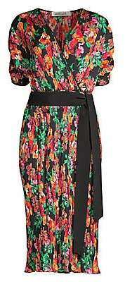 Diane von Furstenberg Women's Autumn Watercolor-Print Midi Dress