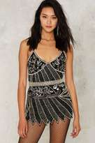 Nasty Gal Collection Absolute Beginners Beaded Skirt