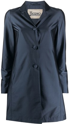 Herno Satin Single-Breasted Coat