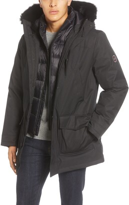 UGG Butte 3-in-1 Down Parka with Genuine Shearling Trim