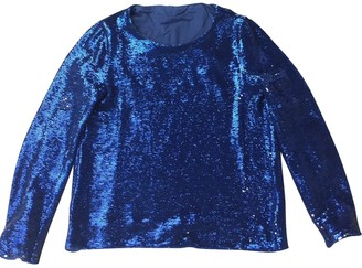 Maje Blue Glitter Top for Women