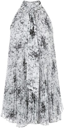 Adam Lippes Floral Pleated Blouse