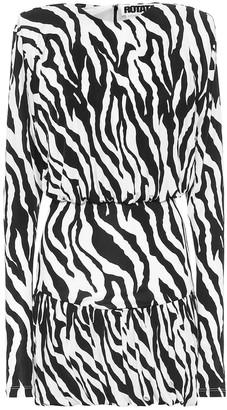 Rotate by Birger Christensen Alina zebra-print minidress