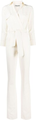 Le Petite Robe Di Chiara Boni Belted Flared Jumpsuit